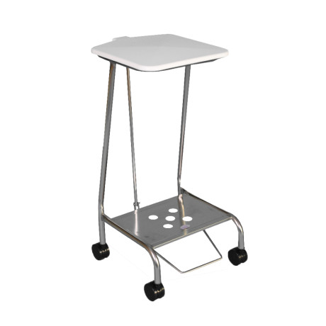 Single Stainless Steel Soiled Linen Trolley