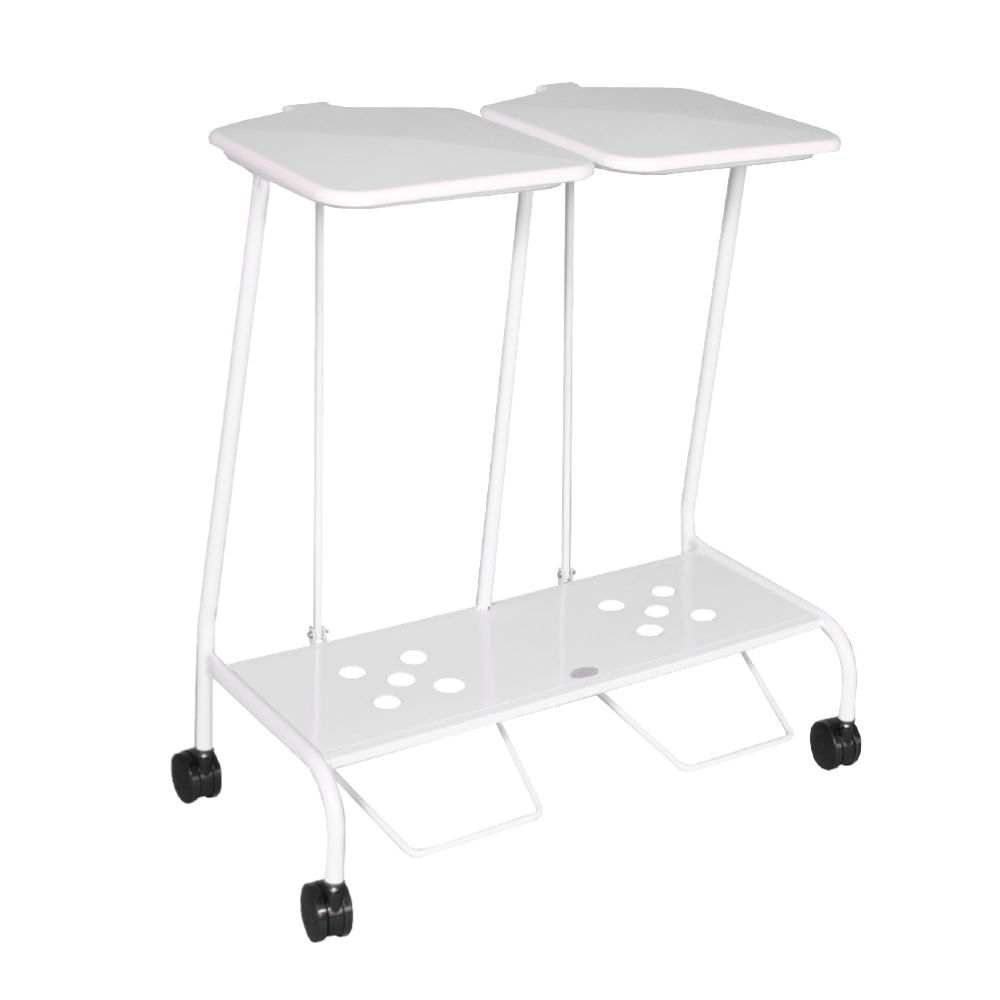 Double Soiled Linen Trolley