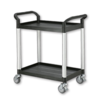 Small 2 Shelf Plastic Tray Trolley