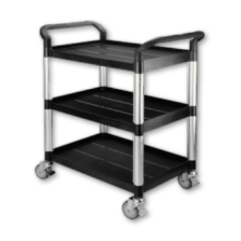 Small 3 Shelf Plastic Tray Trolley
