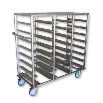 Stainless Steel 24 Tray Food Tray Dispenser