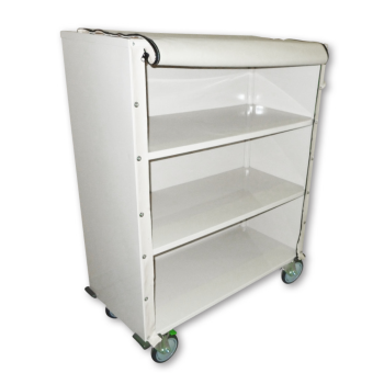 Large Linen Trolley Zipped Front Flap