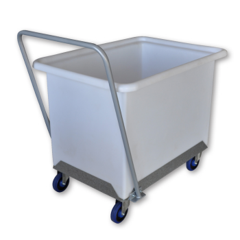 Moist Linen Trolley With Push Handle