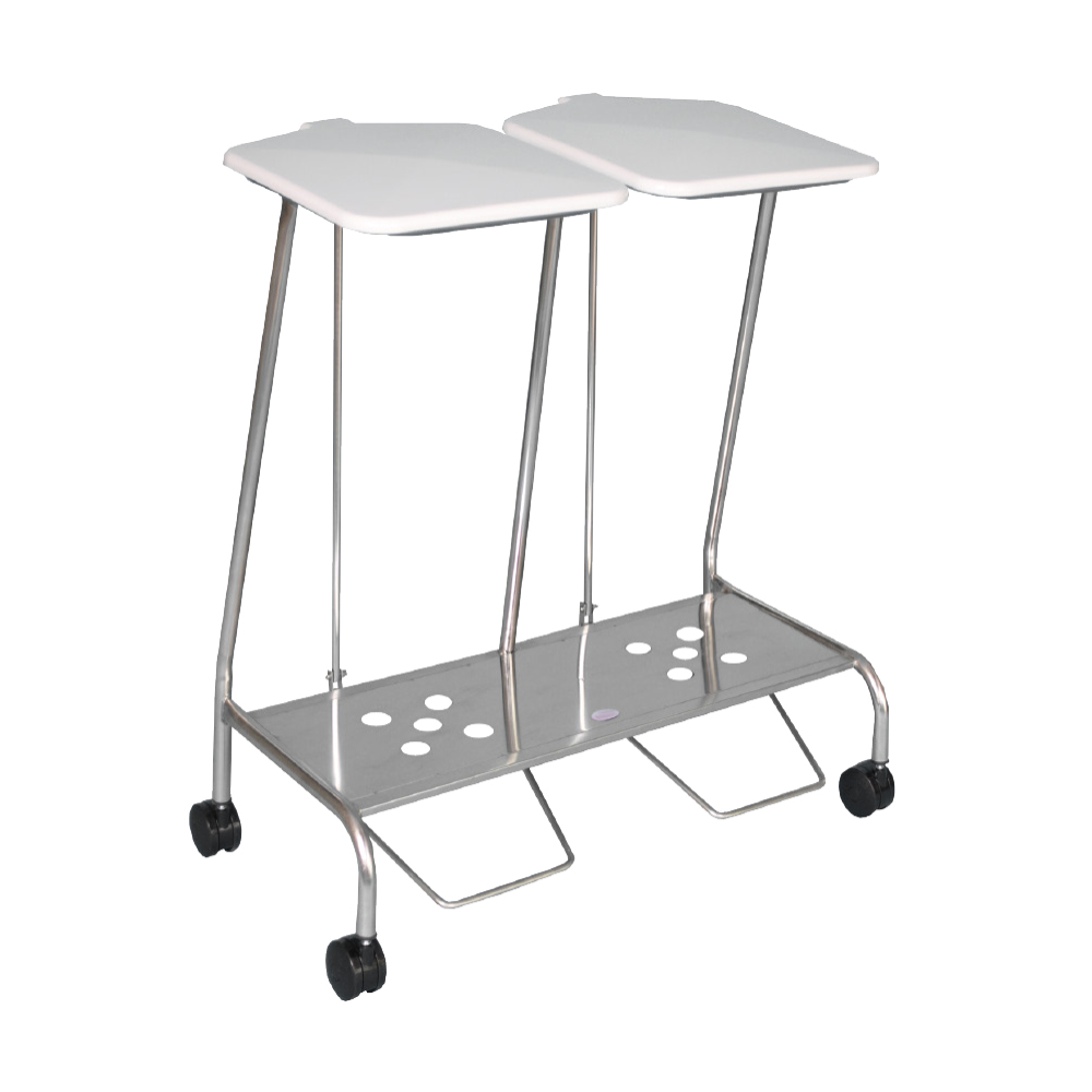 Double Stainless Steel soiled linen trolley