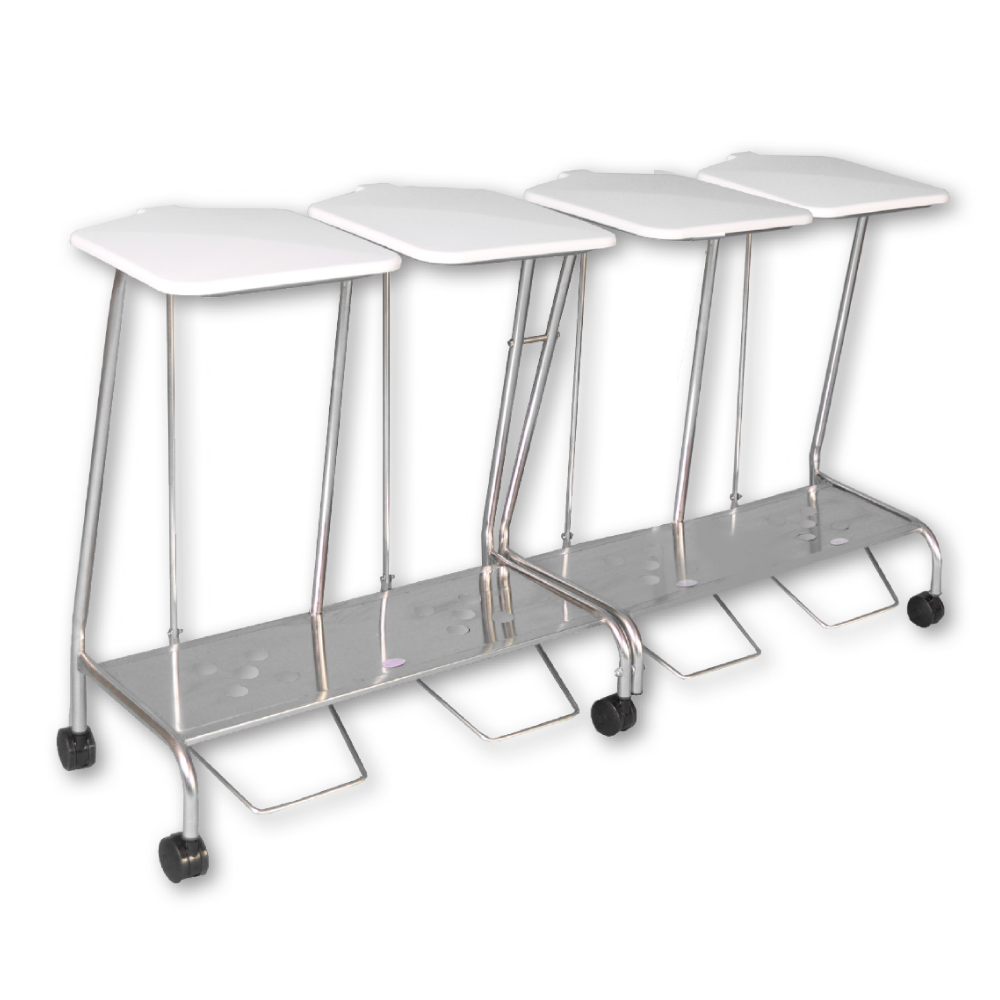 Quad Stainless Steel Soiled Linen Trolley