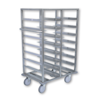 Stainless Steel 16 Tray Food Tray Dispenser