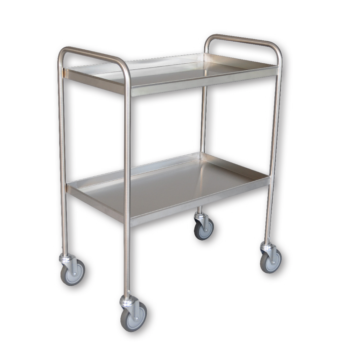 Stainless Steel 2 Shelf Tray Clearing Trolley
